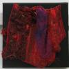 "Red Distortion #2 cattim_614_19 8"" x 8"" (20cm x 20cm) $85.00"