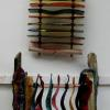 "Ladder & Colour Strips 18"" x 16"" x 9"" Glass/ wood/ fibre NEW Glass pc. SOLD"