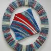 "Blue/White & Red Porthole Sail cattim_503_17 20"" x 24"" (51cm x 61cm) NEW"