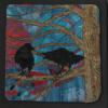 "Two Ravens in a Maple Tree cattim_588_18 10"" x 10"" (25.5cm x 25.5cm) SOLD"