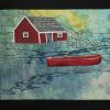 "Red Boat in the Cove cattim_517_17 17 1/2"" x 21 1/4"" (44cm x 54cm)"