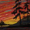 "Sunset #1 cattim_538_17 23 1/2"" x 23 1/2"" (59.5cm x 59.5cm) SOLD"