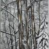 "Three Tall Trees cattim_568_18 38"" x 20""  (96.5cm x 51cm) SOLD"