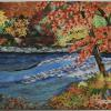 "Fall Scene by the Rapids cattim_572_18 21"" x 38 7/8"" (53cm x 98.5cm) SOLD"