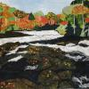 "Rushing Rapids in Fall cattim_577_18 25"" x 20"" (63.5cm x 50.5cm) NEW SOLD!"