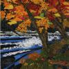 "The Mighty River Rapids cattim_578_18 18 1/2"" x 29 1/2"" (47cm x 75cm) NEW! SOLD"